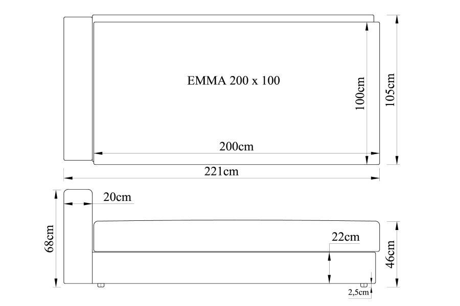 Gulta EMMA 200x100