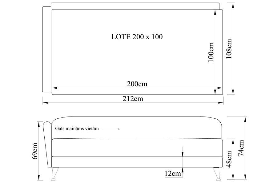 Gulta LOTE 200x100