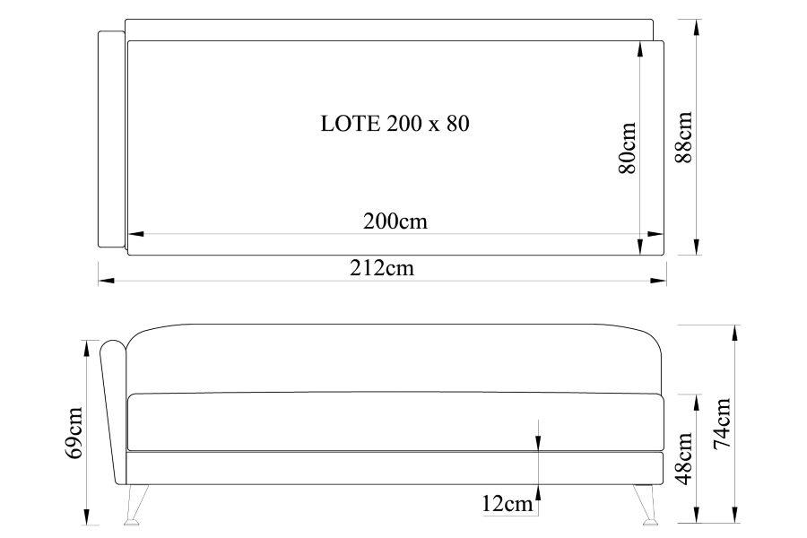 Gulta LOTE 200x80