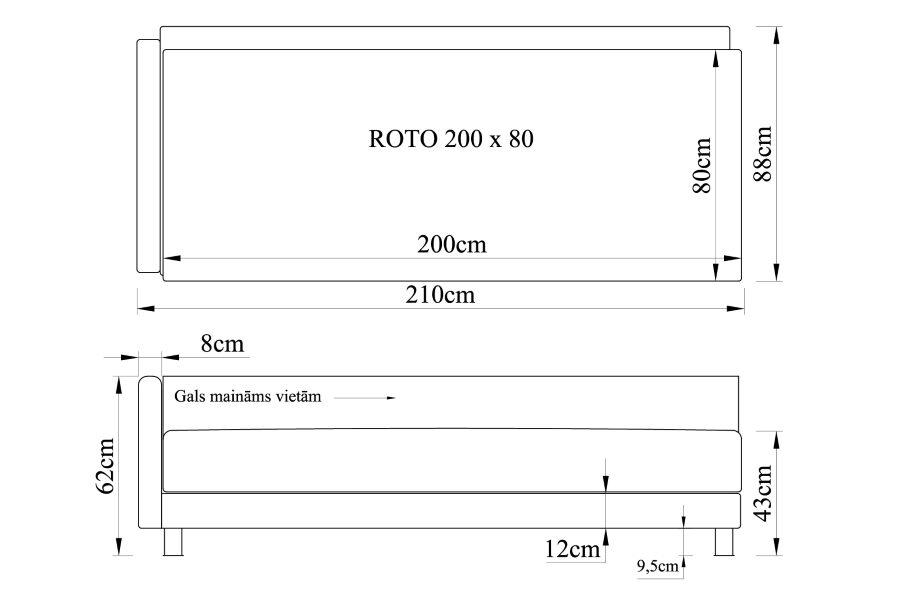 Gulta ROTO 200x80