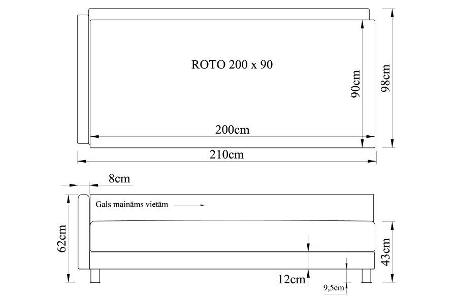 Gulta ROTO 200x90