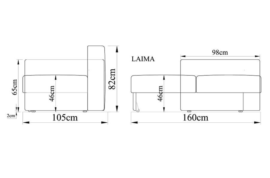 Dīvāns-gulta LAIMA-K15